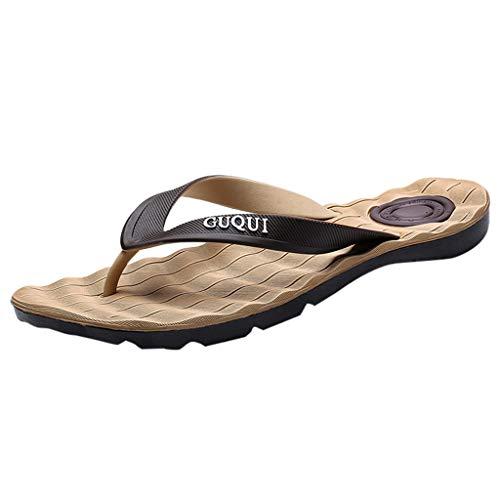 Scarpa Antiscivolo per Il Tempo Libero Sandali Impermeabili Antiscivolo Infradito da Spiaggia Uomo (43 EU,Marrone)