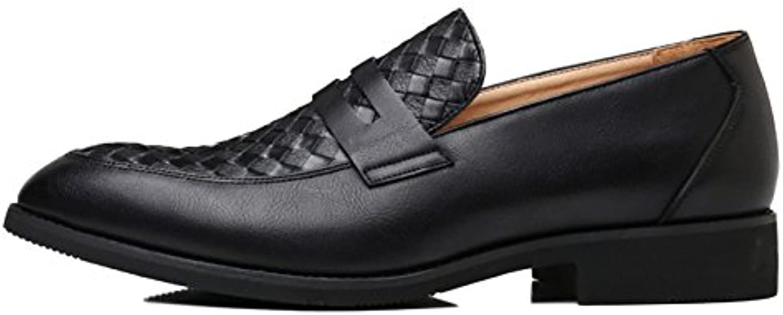 Brogues Für Männer Oxblood Slip auf Leder Business Spitz Breathable Lederschuhe Business Schuhe Low Top
