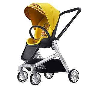 Lightweight Baby Stroller, Pivot Modular Travel System, Sleek & Versatile, Easy Infant Car Seat Transfer, Oversized Storage Basket, Travel Stroller for Infant Newborn Sit and Sleep Stroller,Yellow   4
