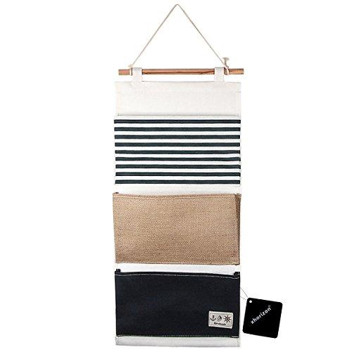 xhorizon TM FM8 Leinen / Baumwollgewebe 3 Taschen Wand-Tür-Schrank-hängender Aufbewahrungsbeutel-Organisator
