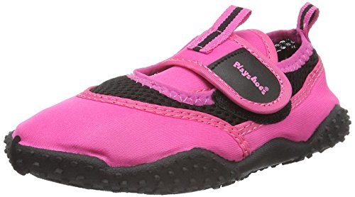 Playshoes Aquaschuhe, Badeschuhe Neonfarben mit Höchstem UV-Schutz Nach Standard 801, Scarpe da Immersione Unisex-Bambini, Rosa (Pink 18), 28/29 EU