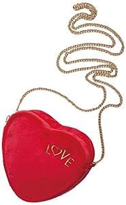 NICI Bolso de Peluche con Forma de corazón, con Cremallera (41007)