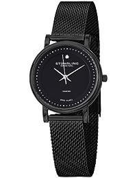 Stührling Original 734LM.03 - Reloj analógico para mujer, correa de acero inoxidable, color negro