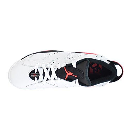 Nike Air Jordan 6 Retro Low, Chaussures de Sport-Basketball Homme, Noir white/infrared 23-black