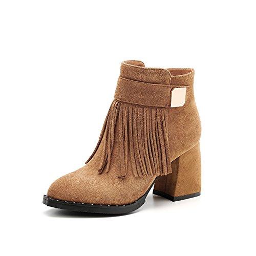 Stivaletti tacco alto moda/ giro per l'Europa e le scarpe nude/ stivali in pelle con cerniera-B Lunghezza