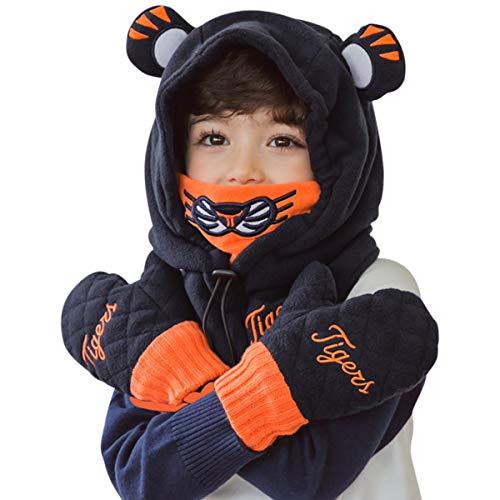 16e1d8f09 DORRISO Lindo Niños Bebe Gorra Primavera Otoño Invierno Cómodo Calentar  Pequeña Tigre Guantes Sombrero de Niño