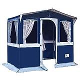 Hosa - Tienda Cocina de Camping Florida 250 x 150 cm - con Ventanas, Hecha en PVC Trevira Impermeable