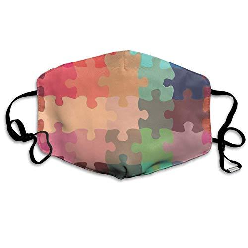 ess Puzzle,Mund Maske Breathable Dust Filter Maske Mouth Cover Maske Elastic Ear Loop Fashion Outdoor Mund Maske with Design ()