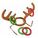 JRing Aufblasbares Geweih,2 Stücke Ringwurf Spiel, Aufblasbare Rentier Geweih Ring Toss Spiel mit Ringen für Weihnachten Weihnachts-Party Werfen Spiel