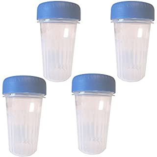 Addis 330ml Beakers .33L with Blue Screw Caps BPA FREE (Pack of 4)