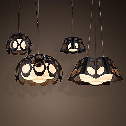 SSBY Vintage candelabros de cabeza única creadora a simple dormitorio Salón lámparas de hierro forjado y cristal colgante de resina , 30*h24cm