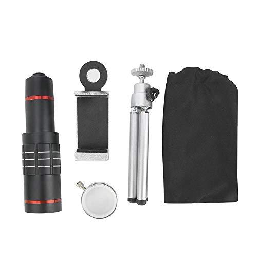 Bicaquu 18X Aluminiumlegierung Optisches Teleskop Monokular Kit mit Stativ für Universal-Smartphone -
