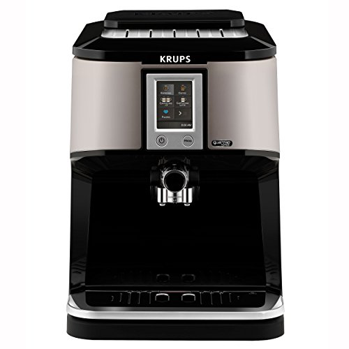 Krups EA880E Kaffeevollautomat One-Touch-Cappuccino, Two-in-One Touch Funktion, TFT-Farbdisplay mit Touchscreen, 1,7 L, 15 bar, silber / schwarz