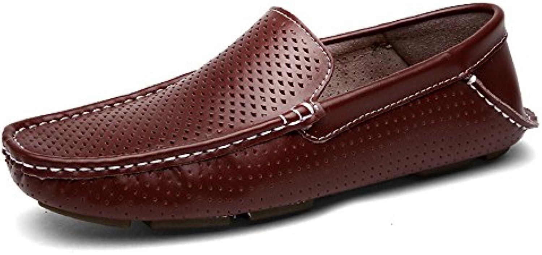 Jiuyue-scarpe Mocassini da guida morbidi Slip-on con suola piatta da guida (Coloree   Marronee, Dimensione   40 EU) | Design ricco  | Scolaro/Signora Scarpa