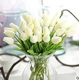 Hosaire Ramo con 10 flores sintéticas, 32 cm, tulipanes para decoración de hogar/Boda/Ceremonias/Navidad