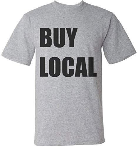 Buy Local Minimal Statement Herren T-Shirt XX-Large -