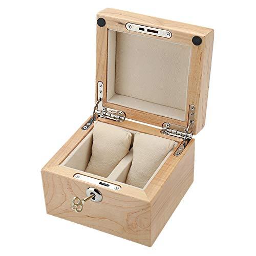 Uhrenbox Reines Massivholz with Kissen Schmuck Armband Anzeige Sammlung Lager Box 2 Schlitze