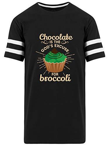 Schokolade ist Gottes Entschuldigung für - Herren Striped Long Shirt -XXL-Schwarz -
