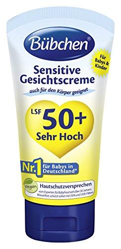 Bübchen Sensitive Sonnenschutz für Gesicht und Körper LSF 50plus, 4er Pack (4 x 50 ml)