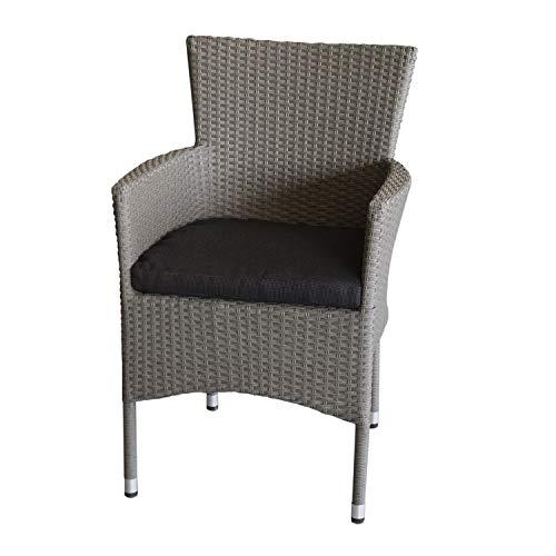 Polyrattan Sessel grau-meliert