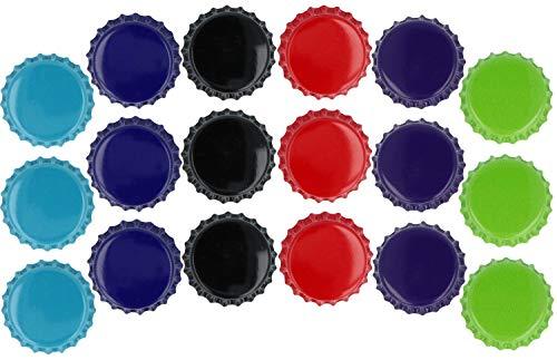 com-four® 18x Aimant de réfrigérateur en métal de différentes Couleurs (18 pièces - Magnets de bière)