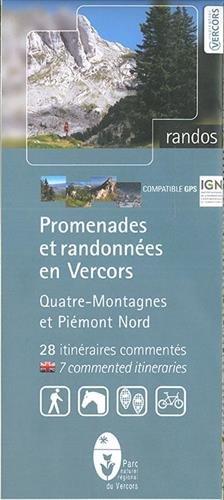 Carte de randonnée : Promenades et randonnées en Vercors - Quatre-Montagne par Cartes Parc Naturel du Vercors
