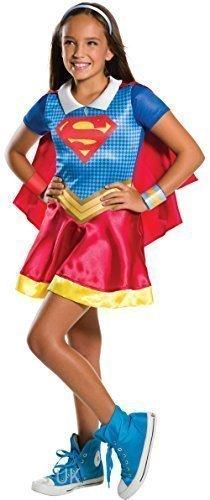 Mädchen Kragen Supergirl Superman Superheld Comicbuch Tag Woche Halloween Kostüm Kleid Outfit 3 - 10 jahre - 8-10 (Superman Kostüme Halloween)