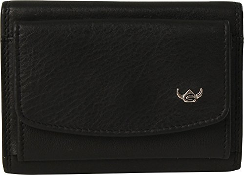 Golden Head Polo Porte-monnaie cuir 9,5 cm noir
