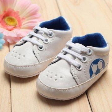 Qualitäts-Baby- Mädchen-Jungen- weiche Sohlen -Fußball-Fußball -Schuhe Sneakers Krippe - 0-6M