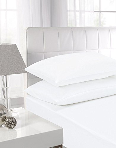 NIYS Luxury Bedding 100% Egyptian Cotton 40CM/16 Extra Deep Fitted Sheets (White, Super King)