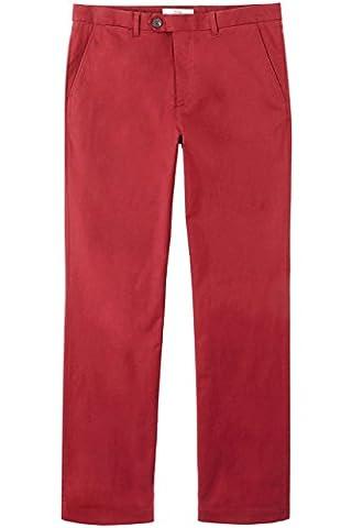 FIND Herren Chino Regular Fit, Rot (Drk Red), W40/L34