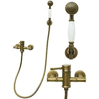 Duschset Brauseset Mischbatterie Dusche Duschsystem Handbrause Duschbrause Duschkopf Einhandmischer Armatur Antik Dusche