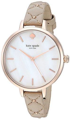 Kate Spade Metro Three-Hand Cuir Gris Montre Femme Ksw1470