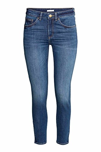 Bottoms Enthusiastic 1pc Women High Waist Jeans Stretchy Dark Blue Button Fly Denim Skinny Pants Trousers With Pocket