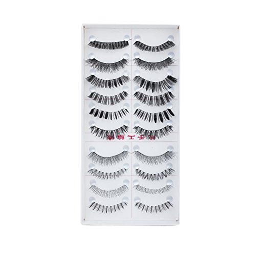 Generic 10 Pairs Mixed Styles False Eyelashes