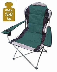regiestuhl deluxe bis 150 kg belastbar farbe gr n campingstuhl extra breit extra bequem. Black Bedroom Furniture Sets. Home Design Ideas