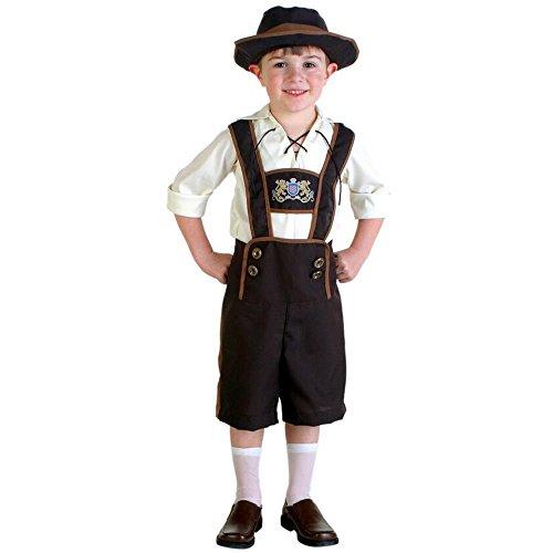 BOZEVON Kinder Jungen Halloween Cosplay Kleidung Oktoberfest Kostüm Alpen Berg Kleidung Make-up Party oder Themed Events (Tanzabend Jungen Für Kostüme)