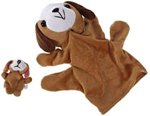 Imported Coffee Dog Hand Puppet Finger Puppet