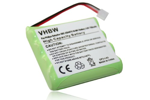 vhbw NiMH Akku 700mAh (4.8V) für Babyphone, Telefon Philips Babyphone BC-EB4870 E2005, BC-EB4880 E2005, SBC-EB4870 A1507 Wie MT700D04C051.