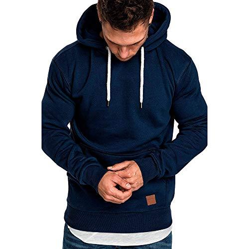 ZIYOU Herren Hoodies Top Sport, Beiläufige Fitness Pullover mit Kapuze/Casual Langarm Trainingsanzüge/Männer Freizeit Muscle Sweatshirt...