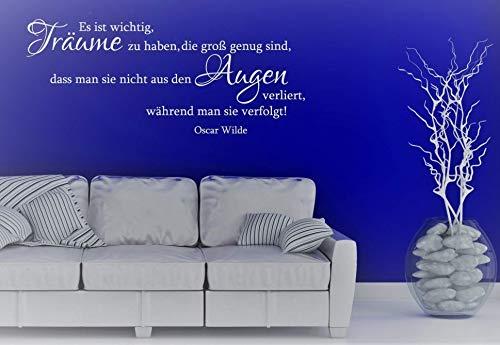 Wandtattoo-Wandaufkleber Spruch/Zitat v. OSCAR WILDE ***Es ist wichtig, Träume zu haben.*** Größe und Farbe frei wählbar!