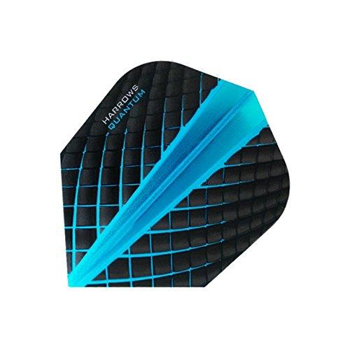 Harrows Dart-Flights, Quantum 3d-Effekt-100Mikron-Standard-Form-Blau-5Sets (15Stück) - Standard Form 100