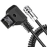 Koolertron Cable D-Tap, para La Cámara de Cine de Bolsillo y La Batería (Cable de Fuerza de Resorte para BMPCC)
