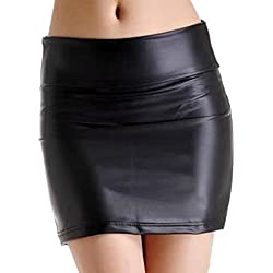 LSERVER-Falda de Cuero Ajustado para Las Mujeres