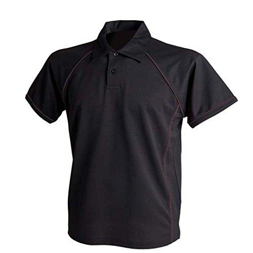 Sport Poloshirt in Kontrastfarben Maroon/Amber/Amber
