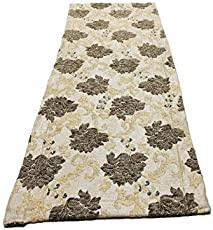 UNC@NNY Beige-Mahogany Brown Shrub Superior 100% Polyester Elegant Table Runner