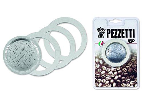 Pezzetti 1351 Ersatzteilset Italexpress für 2 Tassen (3 Dichtungen + 1 Filtereinsatz)