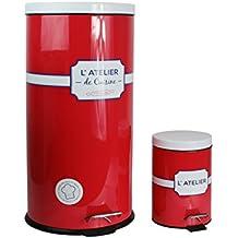 Totally Addict kb5836Juego de 2cubos de taller acero rojo 36x 30,90X 62cm