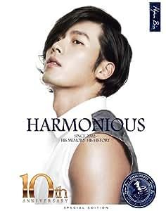 KOREAN STAR HYUN BIN : 10th anniversary official Photobook - HARMONIOUS(4 disc, region code : 3) + hardcase art book (100p)[002kr]