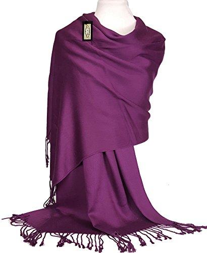GFM Fastglas liss'au toucher Ultra doux Style cachemire Pashmina Écharpe de portage KSHMNAJmn - Purple
